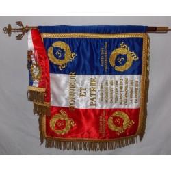 Drapeau Régiment 40 X 40 cm sur hampe avec cravate