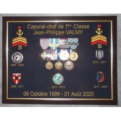 Cadre A3 avec médailles