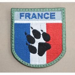Ecusson France Haute Visibilité patte de Chien