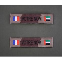 Bande Patro OTAN CE et Sable avec Drapeau France / pays Moyen Orient