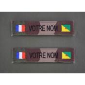 Bande Patro OTAN  CE et Sable avec Drapeau France / DOMTOM (6)