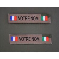 Bande Patro OTAN CE et Sable avec Drapeau France / pays d' Europe