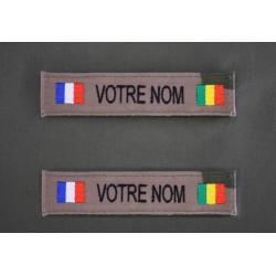 Bande Patro OTAN CE et Sable avec Drapeau France / Pays d'Afrique